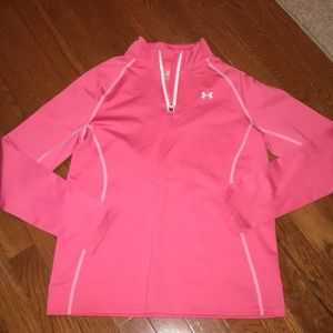 Girls Youth Large PINK Underarmour zip up top
